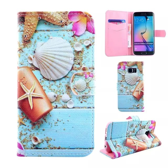 New for Samsubg S6 Edge Phone Case,Nice Crystals Decorated Wallet Leather Cover for Samsung Galaxy S6 edge G925 Free Shipping(China (Mainland))