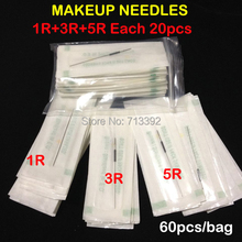 (1R+3R+5R) Eyebrow Needles  Profession Sterilized Permanent Makeup Needles