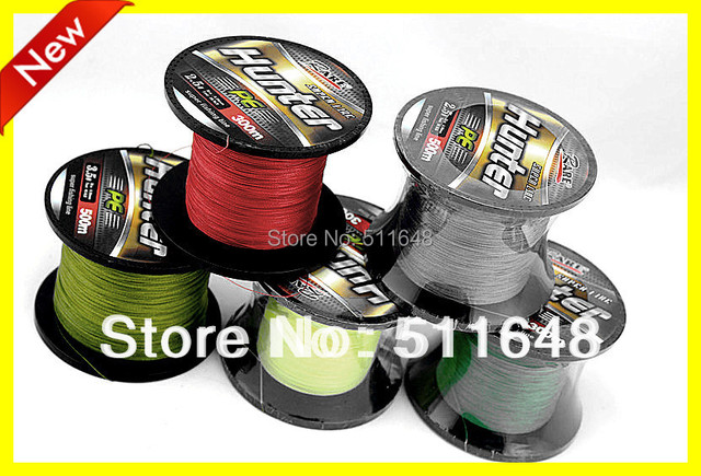 Free Shipping 500M/PCS PE Braid Fishing Lines 10-80LB