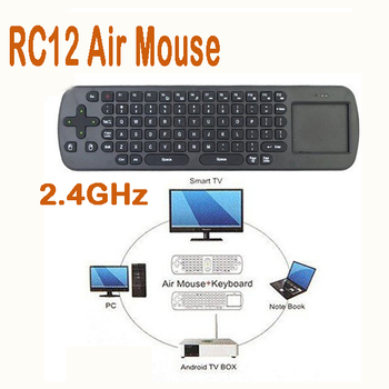 50% shipping fee 5 pieces New Measy RC12 2-IN-1 Smart Wireless 2.4GHz RF Air Mouse + Touchpad Handheld Keyboard Combo