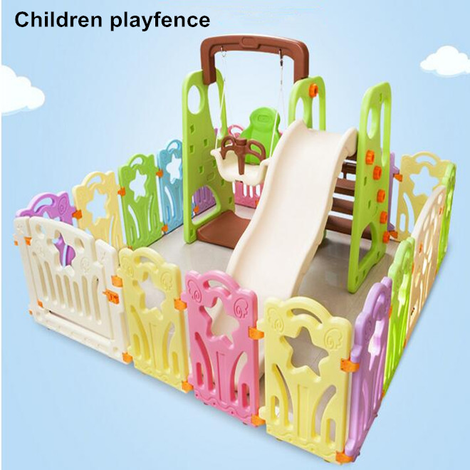 Plastic Children Guardrail Assembly infant baby crawing toddler safety fence Playpens Set(China (Mainland))