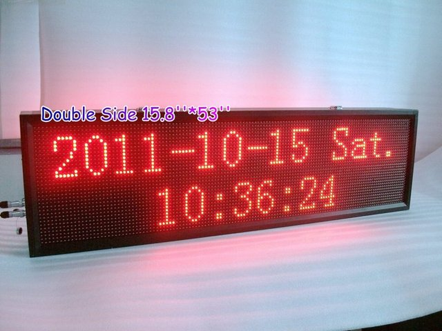 Double side P10R outdoor Scrolling led sign display LED Window Sign 15.8''*53'' Max.4lines*16characters