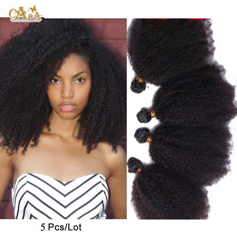 Queen hair products Mongolian Kinky Curly Hair Weave 100% Unprocessed 5A Kinky Curly Virgin Hair 4Pcs Lot Free Shipping