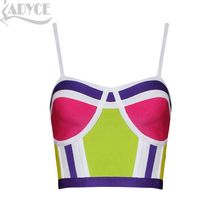 Wholesale dropshipping 2015 new arrival summer style short style women fashion patchwork fashion bodycon HL bandage tank tops