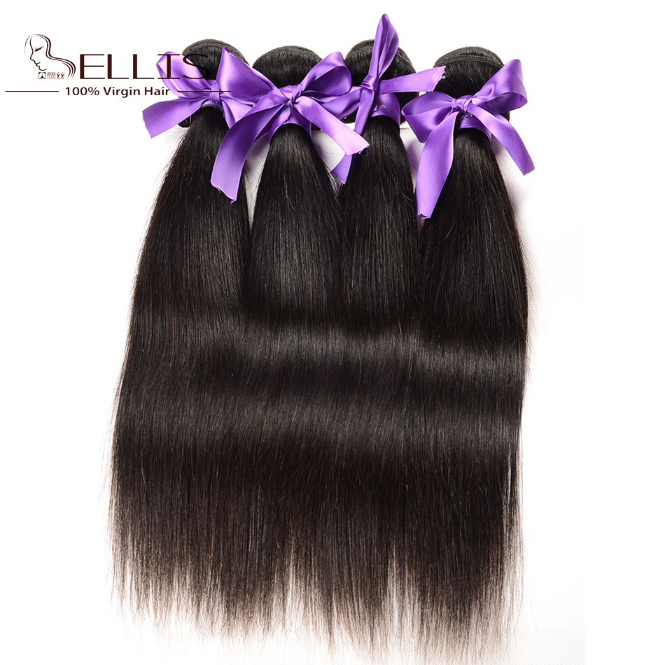 Grade 5a Indian virgin hair straight 4 pcs unprocessed Indian hair bundles virgin Indian hair straight 100g bundles Bellis hair