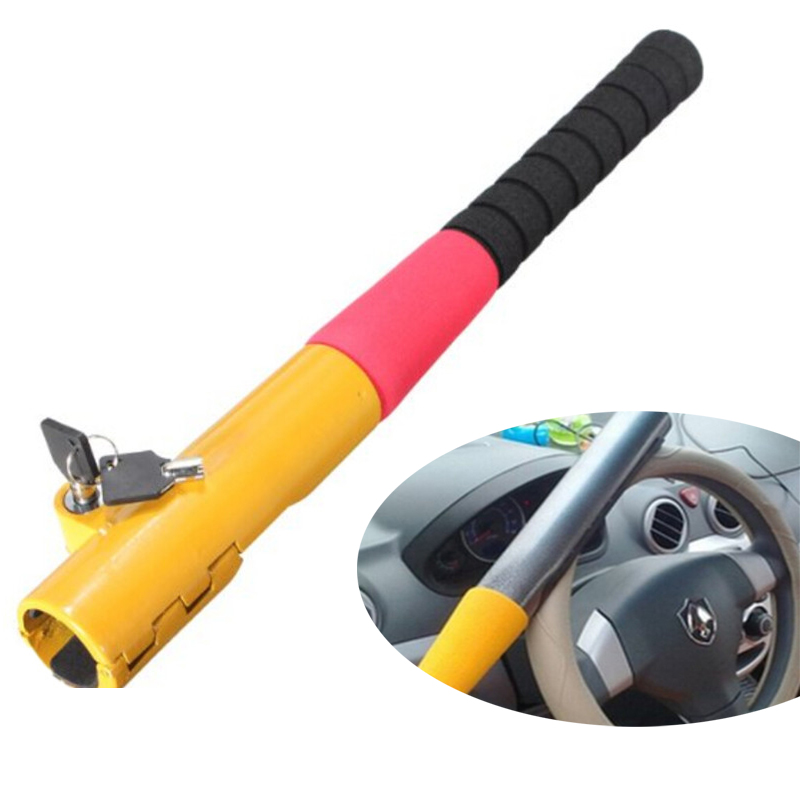 Car Steering Wheel Lock Auto Car truck Anti Theft Device High Security Baseball Lock Car Styling With 2 Keys Yellow Red(China (Mainland))
