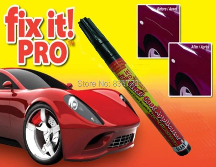 Fix it PRO Painting Pen Car Scratch Repair for Simoniz Clear Pens Clear Coat Applicator Repair Pen Opp Packaging Free Shipping(China (Mainland))