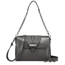 MAIS REAIS mulheres messenger bags couro rachado top-handle bags senhoras bolsas femininas crocodilo impressão crossbody ombro bolsa totes(China)