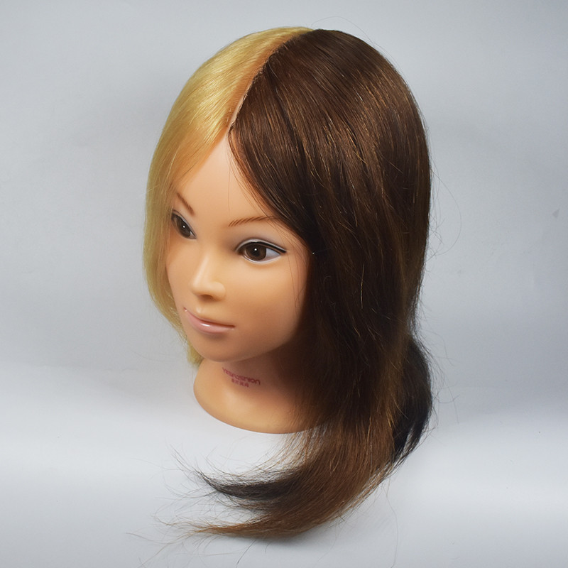 Free Shipping Mannequin Dummy Manequin Cosmetology Mannequin Heads 100% Human Hair Training Mannequin Head With Blond Hair