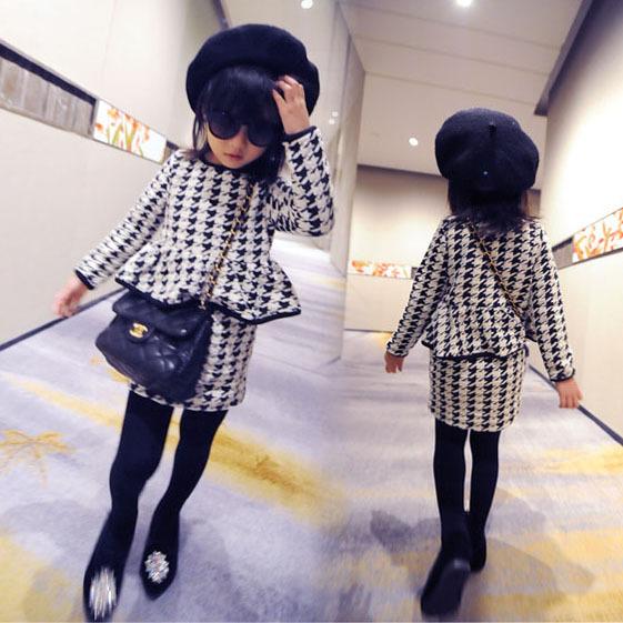 ()-2016 autumn winter Swallow gird dress 2-7 child girl - guangdong humen costume Factory store