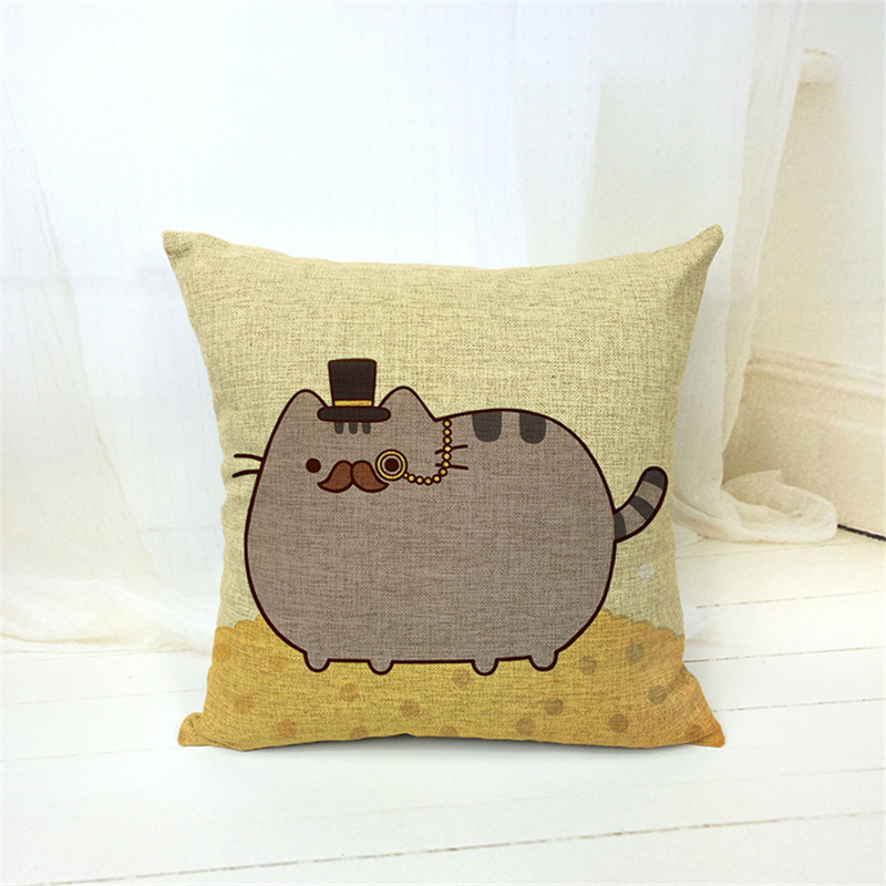 Nordic Chair Pillow Personality Car Cushion Cover Creative Handsome Cat shape Nap pillow Cover Cute seat