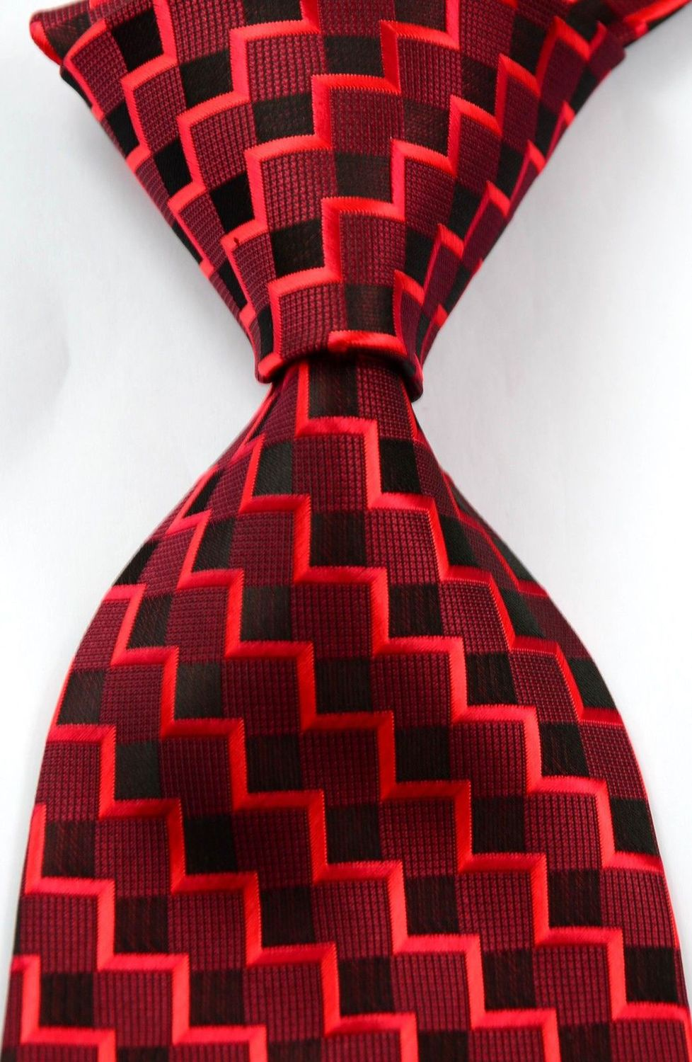 Classic Patterns Red JACQUARD WOVEN Silk Men's Tie Necktie #320 - wei669 store