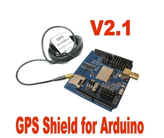 New GPS Shield Module Board V2.1 EB-5365 SD Interface w/ Antenna for Ar-dui-no