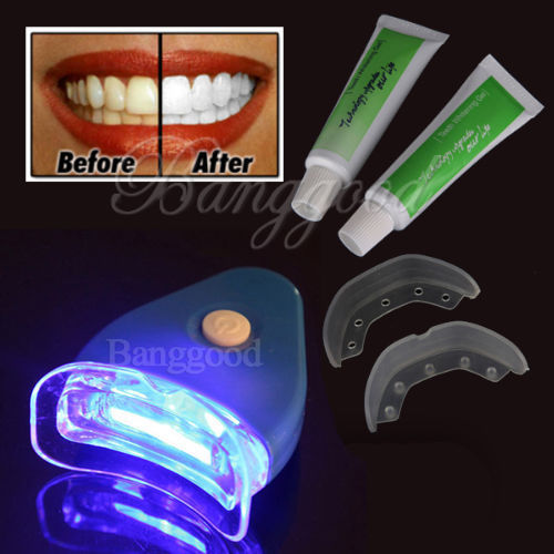 2016 Hot White LED Light Teeth Whitening Tooth Gel Whitener Health Oral Care Toothpaste Kit For
