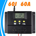 60A 12V Solar Controller 24V panel Battery Charge Controller Solar Home system indoor use LCD 60