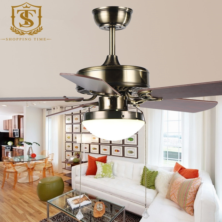 new arrival cheap retro ceiling fan lights 5 blades 42