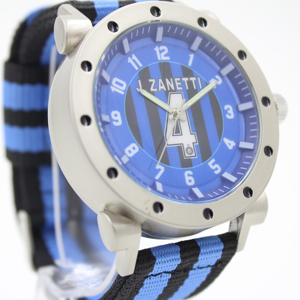 Soccer Players Zanetti Inter Jersey Number 4 Souvenirs Men's Quartz Football Team Wristwatch Male Quartz Nylon Sports Gift Watch(China (Mainland))