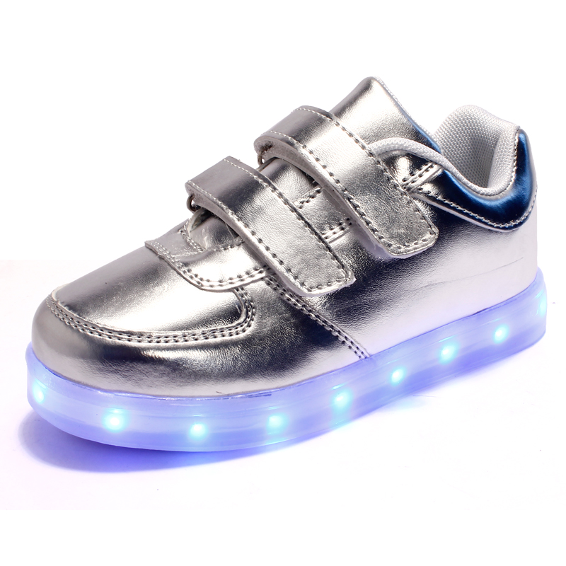 Stylish 7 Colors/ Children Led Lights Shoes/ Boys/Girls Usb Charger Light Schoenen /Kids Shoes /Luminous Shoes Casual Size 25-37