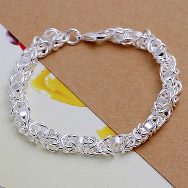 H073 925 ювелирных изделий посеребренные браслет, 925-sterling-silver мода ювелирных ...