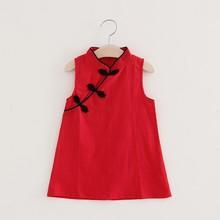 WEIXINBUY קיץ נסיכת שמלת כותנה תינוקת רקום אפרסק אפוד שמלת 1-4Y באיכות גבוהה תינוקת תינוקות שמלה(China)