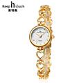 Gold Women Bracelet Watches Rhinestone Quartz Ladies Watch Waterproof Shock Resistant Wristwatch Montre Femme Reloj Mujer