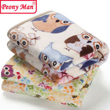 High Quality! Flannel Baby Blanket Newborn Faux Fur Super Soft Cartoon Blankets 80x100cm For Beds Thick Warm Kids Fleece Throw(China (Mainland))