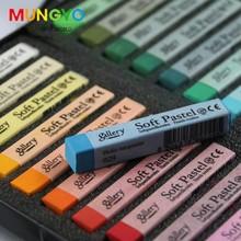 Мягкий масляная пастель рисование искусство Set мягкий карандаш волос мел мелки 24 цветов искусство школьных принадлежностей
