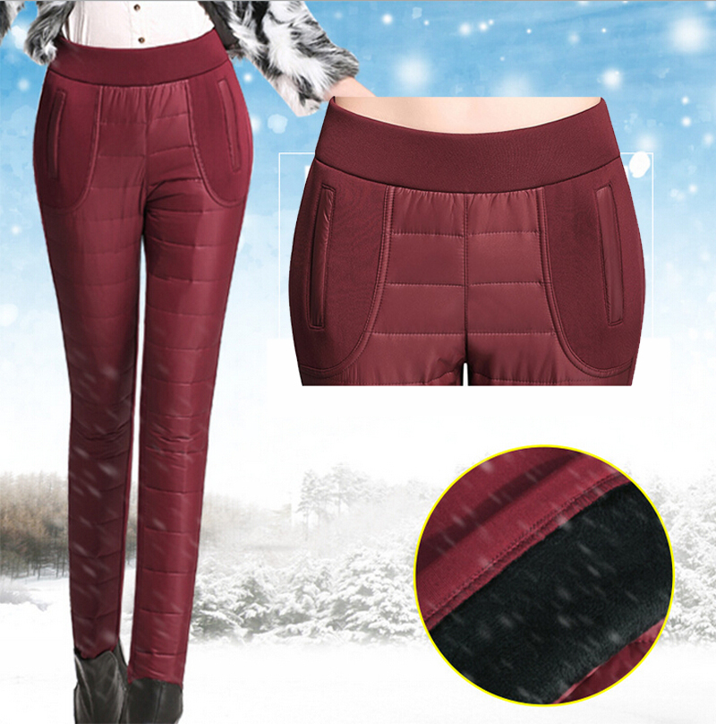 2015 New Winter Outer Wear Women Pants Fashion Female Slim Warm Windproof Plus Velvet Thick Cotton