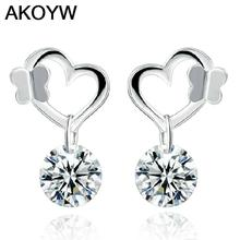 S925 sterling silver butterfly cute high quality crystal gifts female models super flash high-end jewelry women jewelry