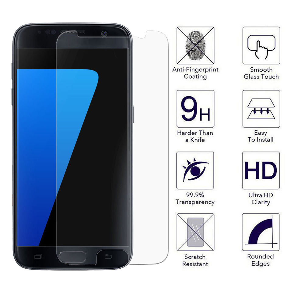 9h tempered glass screen protector for samsung for galaxy s3 mini s4 mini a3 a310 a5 a510 a7. Black Bedroom Furniture Sets. Home Design Ideas