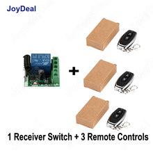 Interruptor de Control remoto inalámbrico Universal de 433 Mhz DC 12V 1CH módulo receptor de relé y Transmisor RF Control de bloqueo electrónico diy(China)
