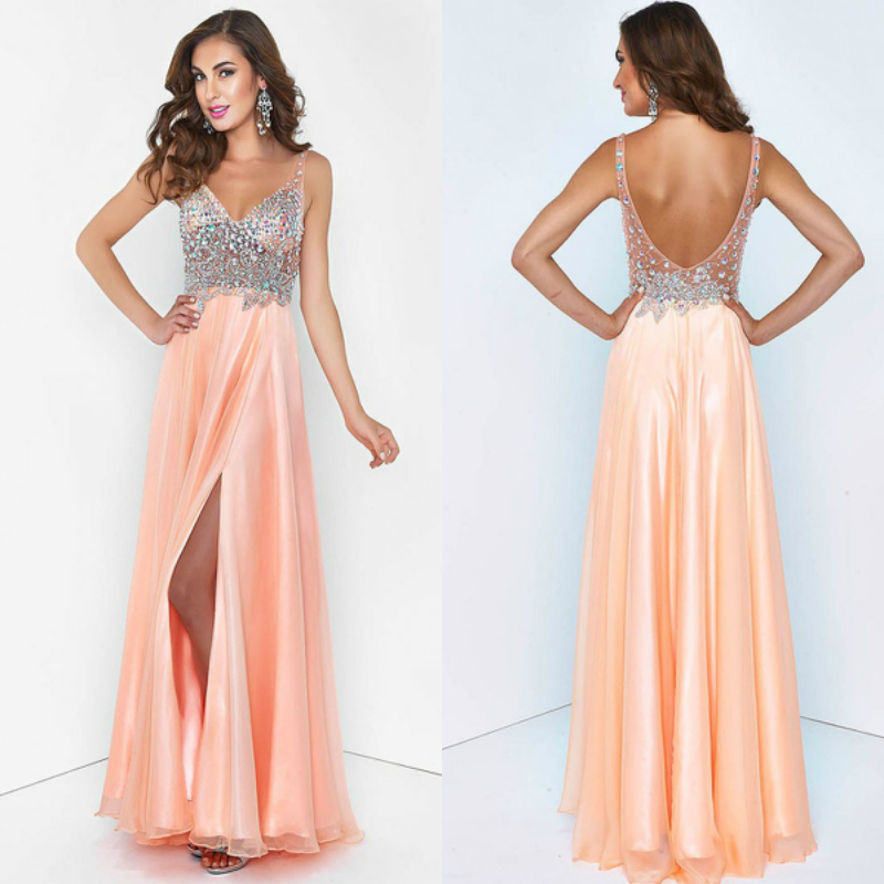 Платье из атласа с открытой спиной