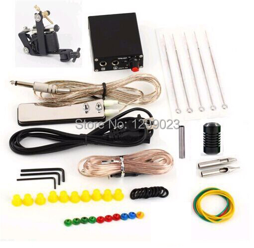 Cheap begin complete Tattoo Kit  black ink tattoo needle +power supply free shipping<br><br>Aliexpress