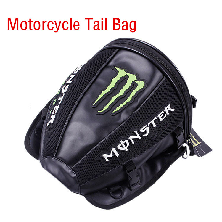 2017 New Arrive High Quality Leather Motorcycle Riding Tail Bag High-capacity Waterproof Top Cases Monster Style Motorcycle Bags