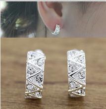 Crystal fashion charm ear clip Korean version of all-match beautiful ear hoops  LM-C331(China (Mainland))