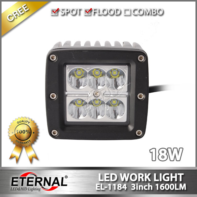 pair 18W 3x3 cube pod led work light for offroad Wrangler JK CK CJ YJ TJ SUV 4x4 racing equipments(China (Mainland))