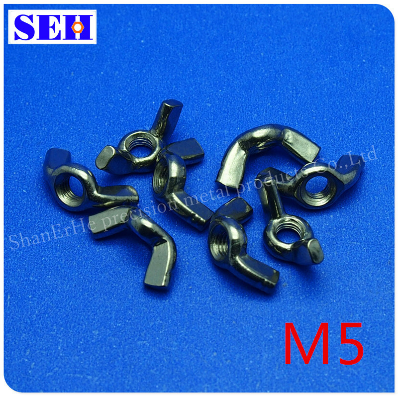 1000pcs/lot 304 Stainless Steel Metric Thread M5 Nuts Butterfly Nuts<br><br>Aliexpress