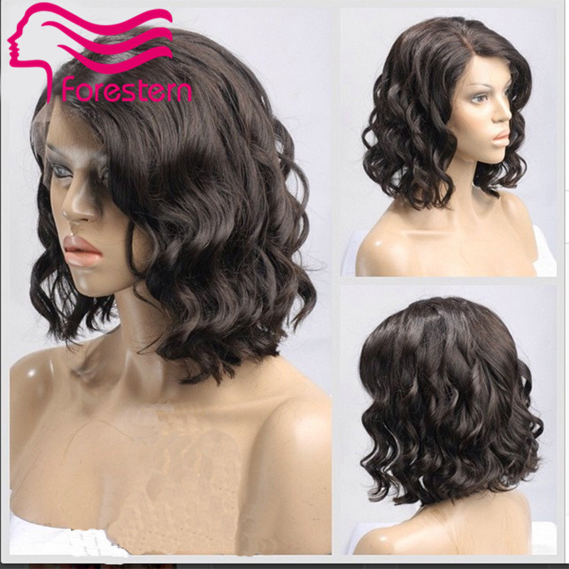 Wavy Bob Full Lace Brazilian Hair Wigs Glueless Bob Lace Front Wigs For Black Women Virgin Wavy Lace Front Wig Bob Full Lace Wig<br><br>Aliexpress