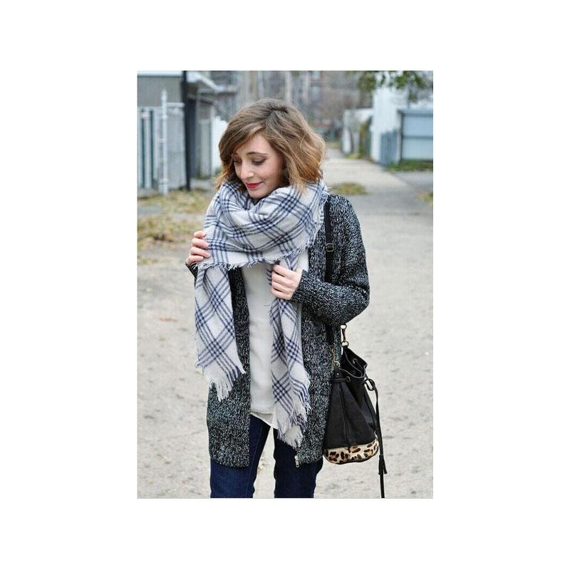 new 2016 brand designer scarf fashion plaid winter scarf women bufanda cuadros mujer shawls and scarves desigual checkered scarf(China (Mainland))