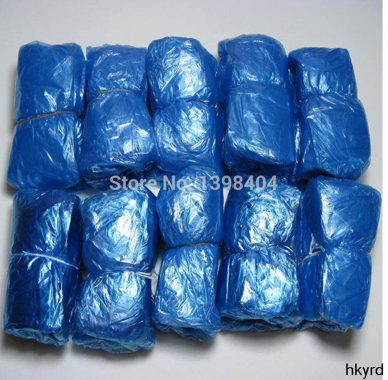 Гаджет  A11 100 PCS Blue Disposable Plastic Rain-Proof Waterproof Shoe Covers H0656 P None Обувь
