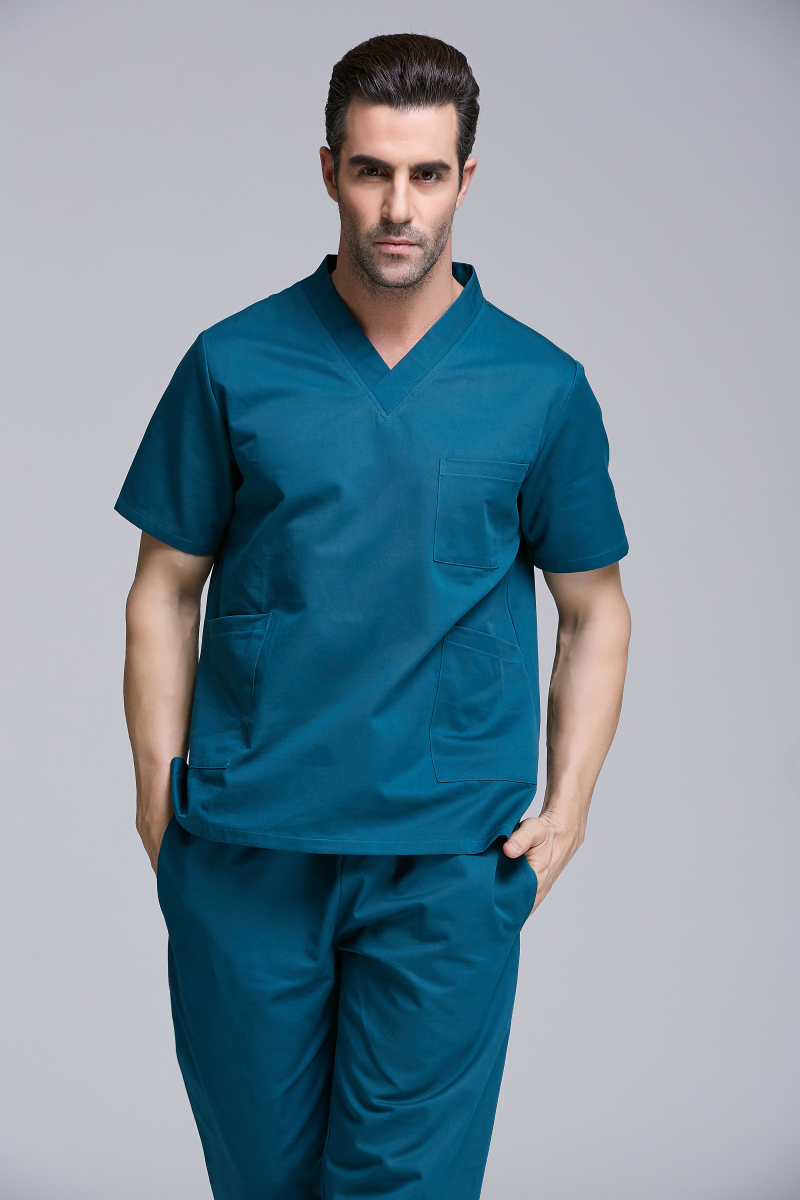 New product A Top women men hospital medical scrub set clothes short sleeve 100% cotton surgical clothes crubs good quality(China (Mainland))