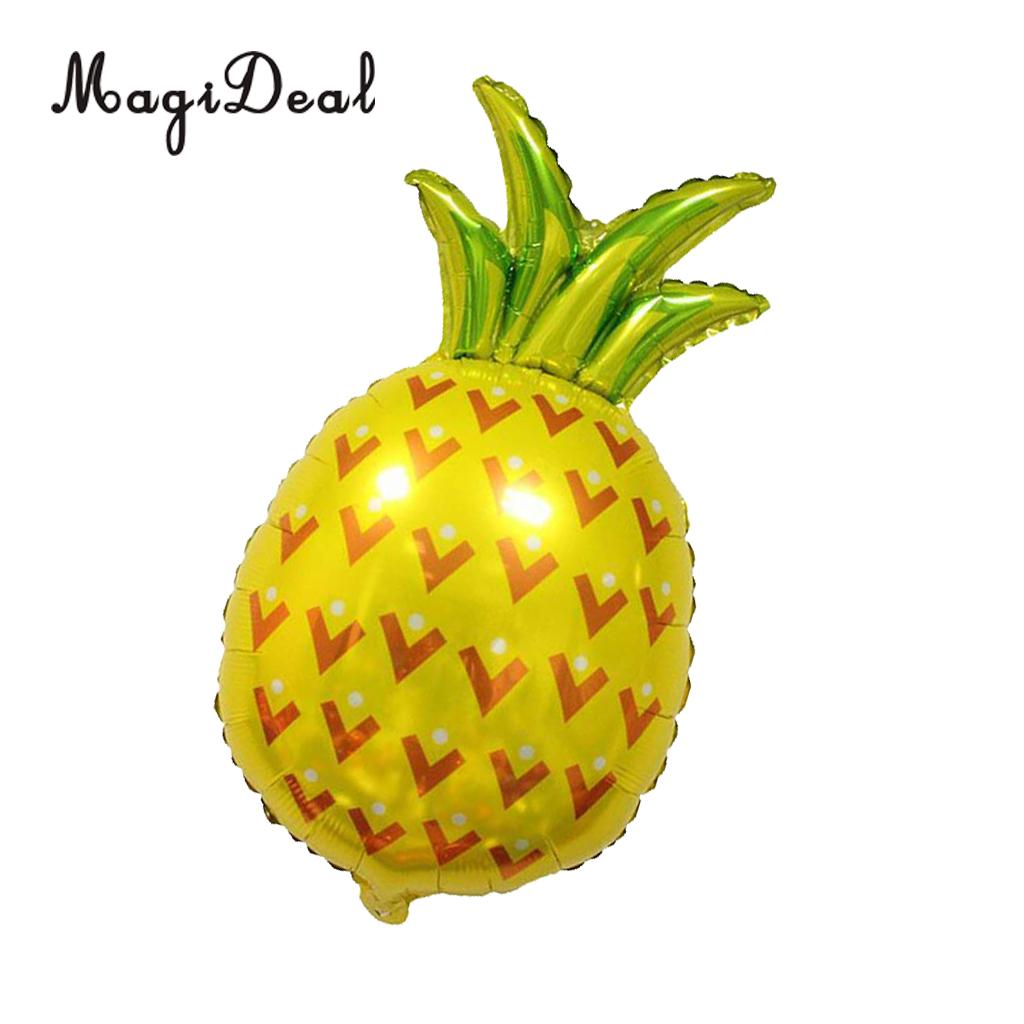 MagiDeal Large Pineapple Aluminum Foil Balloon Kit for Kids Birthday Party Baby Shower Christening Decoration Yellow 80 x 48cm