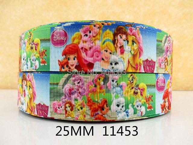 50Y11453 kerryribbon freeshipping 1'' cartoon printed Grosgrain ribbon Clothing accessories Bow Material Gift Wrapping(China (Mainland))