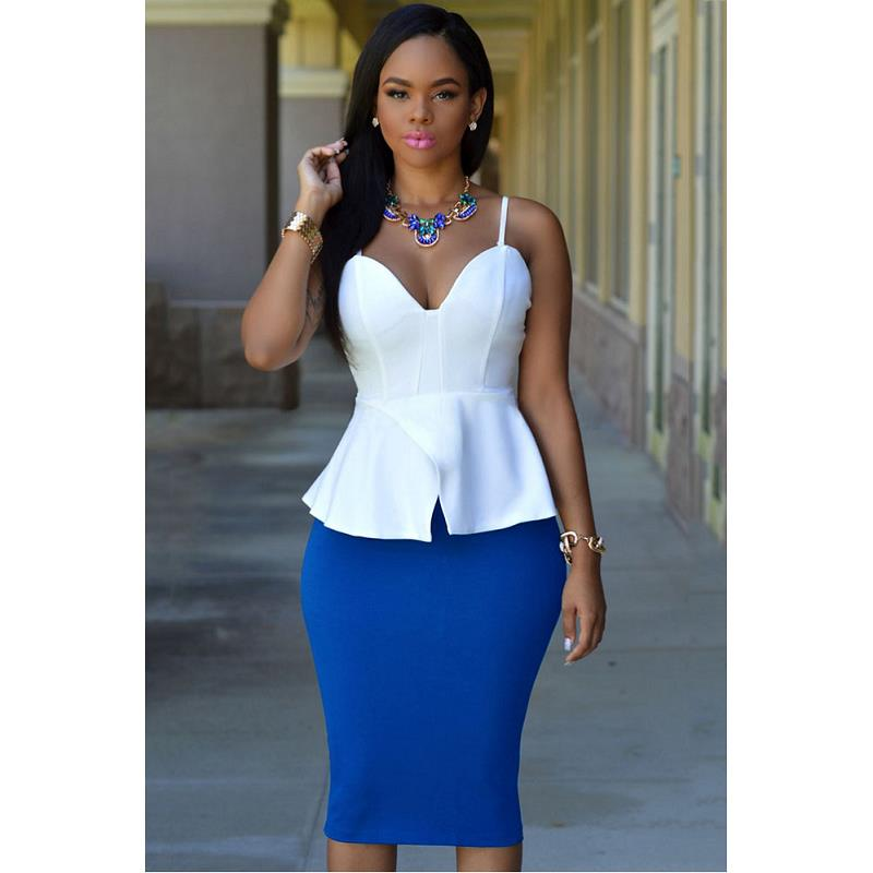 Summer autumn 2015 fashion white black Pink Mauve women slim midi skirt plus size knee length pencil empire solid - KING FASHION DRESS CO.,LTD store