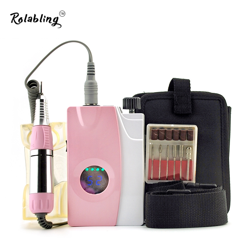 Rolabling Electric Nail Drill Machine Pink New Nail Drill Machine Amazing For Nails Dirll Machine CE Safty Certification(China (Mainland))