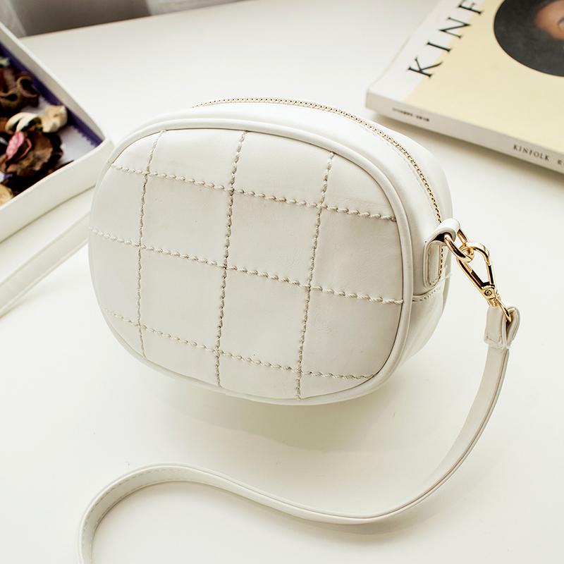 2016 New Summer Plaid PU Leather Handbag Satchel Small Fresh Package Box Tassel Small Shoulder Bag(China (Mainland))
