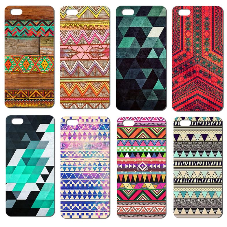 Arrive beautiful colored Bohemian style Fashion items hard back cover case Iphone 4 4S 5 5S SE Promotion Painted - MISSCASE Store store