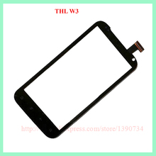 Black Color in stock THL W3 New Touch Screen Digitizer Replacement for THL W3 ANDROID Phone free shipping with track code(China (Mainland))