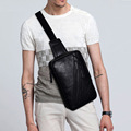 New Men Fashion PU Leather Chest Pack Cross Body Messenger Shoulder Back Pack Vintage Sling Chest