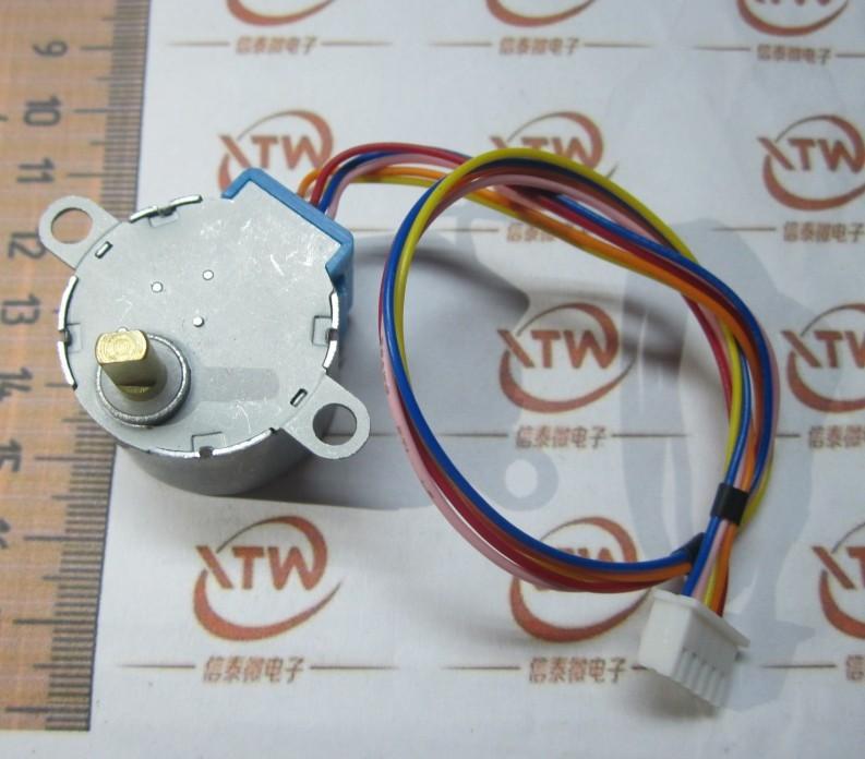 DC 5V 4 -phase 5- wire stepper motor 28YBJ-48 28BYJ48 lead stepper motor deceleration 25CM<br><br>Aliexpress